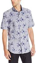 Bogosse Men's Mini D-Arch 83 Short Sleeve Button Down Shirt