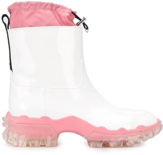 Moncler Logo Tab Rain Boots