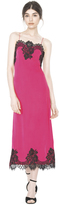 Alice + Olivia Fuchsia Luna Side Slit Slip Dress