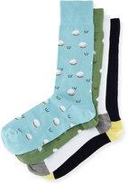 Neiman Marcus 4-Pair Golf Socks Gift Box