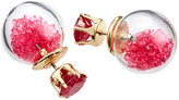 Lydell NYC Crystal Front-Back Statement Shaker Earrings, Dark Pink