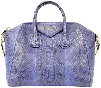 Givenchy Antigona Blue Python Handbags