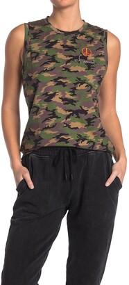 Nicole Miller Camo Print Muscle T-Shirt