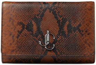 Jimmy Choo Varenne logo-emblem clutch bag