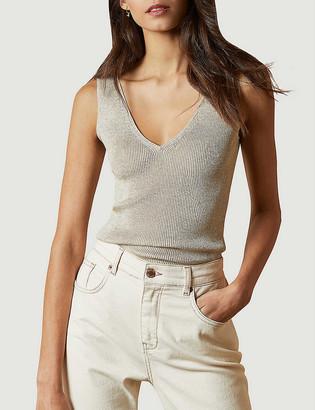Ted Baker V-neck sleeveless stretch-knit top