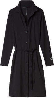 10 Days - Black Scuba Shirt Dress - 2