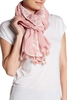 David & Young Embroidered Oblong Scarf
