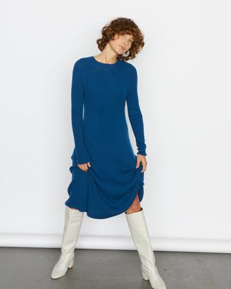 Jigsaw Ribbed A Line Knit Dress