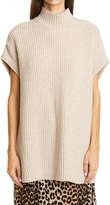Ganni Ribbed Wool Blend Pullover