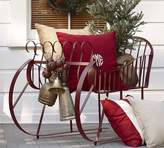 Pottery Barn Outdoor Red Metal Sleigh