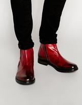 Diesel Deshort Zip Short Boots - Red