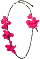 Lanvin multiple flower necklace