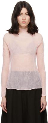 Issey Miyake Pink Chiffon Twist Blouse