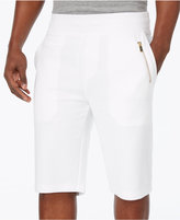 Sean John Men's Textured-Stripe Knit 12and#034; Stretch Shorts
