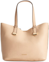Calvin Klein Pebble Leather Tote with Pouch