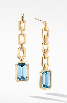 David Yurman Novella Chain Drop Earrings in 18K Yellow Gold