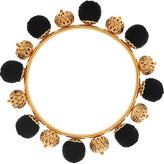 Dolce & Gabbana Gold-plated and woven bangle