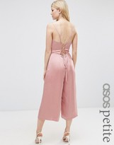 Asos Satin Cami Jumpsuit with Strappy Back