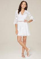 Bebe Nancy Lace 3/4 Sleeve Dress