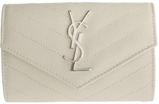 Saint Laurent Off-White Small Monogramme Envelope Wallet