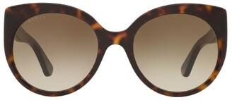 Gucci Tortoiseshell Print Butterfly Sunglasses