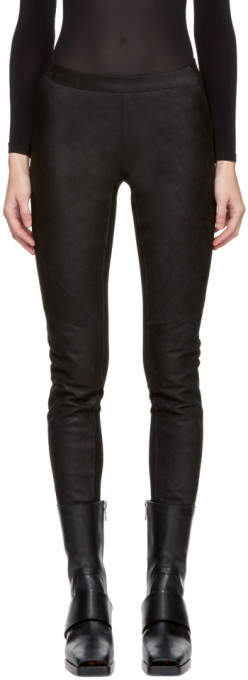 Gareth Pugh Black Waxed Leather Pants