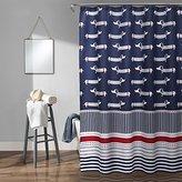 Lush Decor Sausage Dog Shower Curtain x 72 inch, Navy