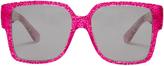 Saint Laurent Rectangle-frame glitter sunglasses
