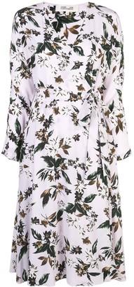 Dvf Diane Von Furstenberg Floral Print Wrap Dress