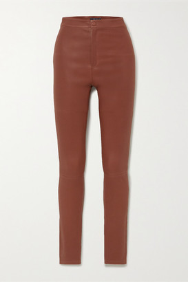 ZEYNEP ARCAY Stretch-leather Skinny Pants - Brown