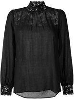 Masscob lace detail blouse