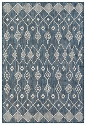 """Liora Manné Union Rustic Stampley Flatweave Navy Area Rug Union Rustic Rug Size: Rectangle 4'10"""" x 7'6"""""""