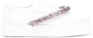Joshua Sanders Glitter-Strap Sneakers
