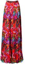 Matthew Williamson Red Maracas Montage Silk Chiffon Maxi Skirt