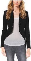 Michael Kors Studded Stretch-Jersey Tuxedo Blazer