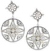 Cezanne Filigree Circle Drop Earrings