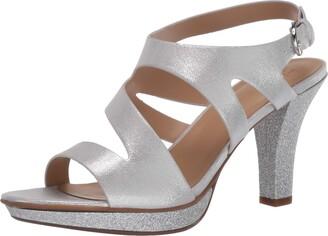 Naturalizer Womens Dee White Slingback Heels 10 W