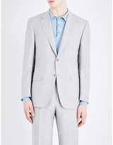 Canali Tailored-fit Wool And Linen-blend Jacket