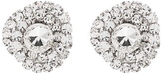 Alessandra Rich Torchon silver-tone crystal earrings