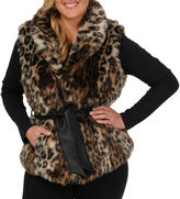 JCPenney Excelled Leather Excelled Faux-Fur Vest - Plus