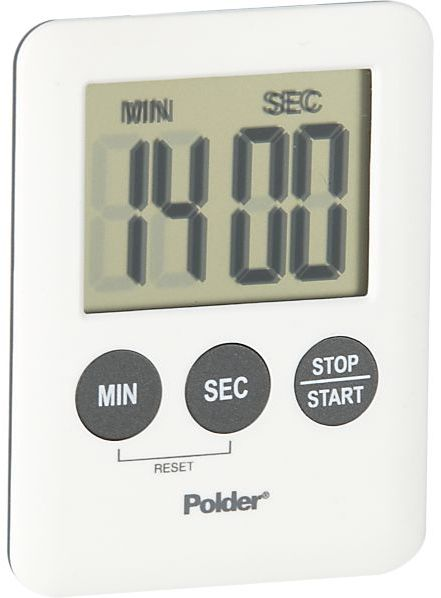 Polder Mini White Magnetic Digital Timer.