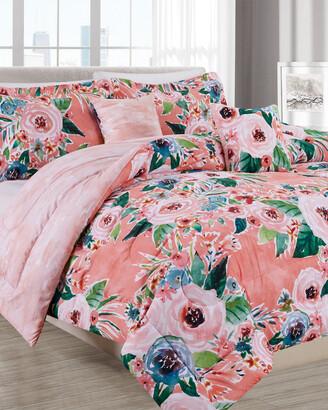 Melange Home Barbarian Gone Floral 5Pc Comforter Set
