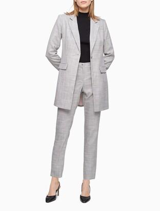 Calvin Klein Grey Plaid Slim Pants