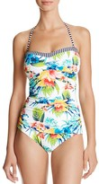 Tommy Bahama Printed Halter One Piece Swimsuit