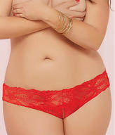 Seven Til Midnight Seven 'til Midnight Crochet Lace Crotchless Thong Plus Size