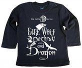 Dirty Fingers, D is for Dire, Doth, Dragon, Baby Boy, LS Top, 3-6m