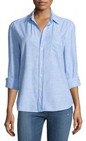 Frank And Eileen Eileen Long-Sleeve Chambray Blouse, Blue