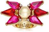 "Trina Turk Sparkle and Shine"" Stone Pink Multi-Spray Ring, Size 7"