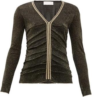 Peter Pilotto Stripe-trim Metallic Sweater - Black