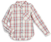 Dex Plaid Button-Down Top